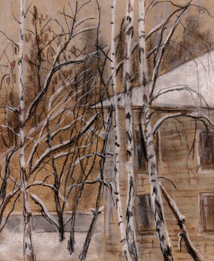 Betulle di inverno royalty illustrazione gratis