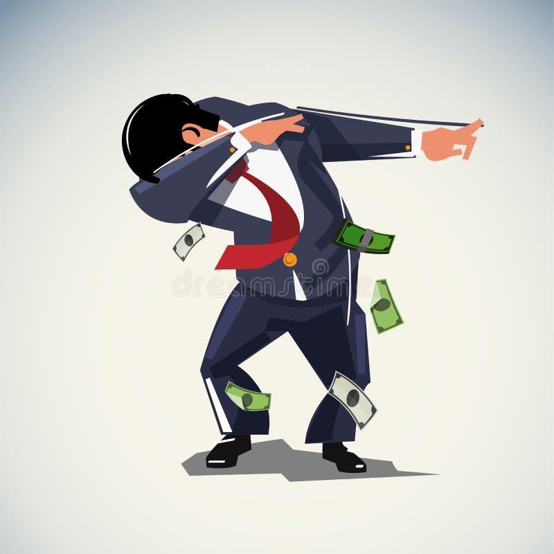 Betupfen oder des Kleckses überzeugten oder der Freiheit Konzept des Geschäftsmannes, - Vektor stock abbildung