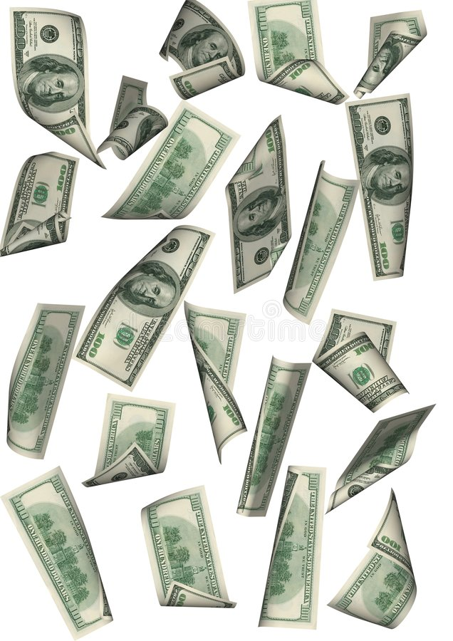 Betwe lointain d'isolement par pluie du dollar illustration stock