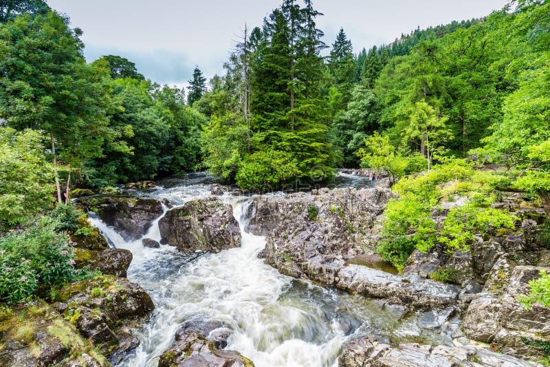 Betws-y-Coed в национальном парке Snowdonia в Уэльсе, Великобритании стоковое изображение rf