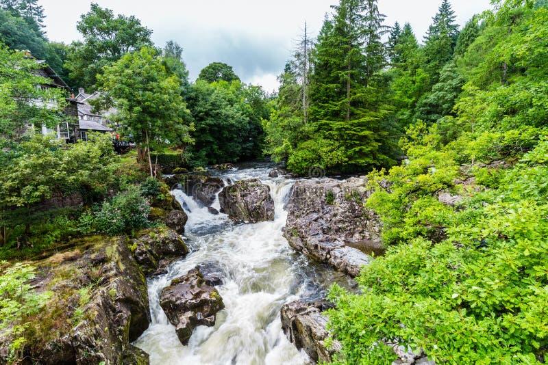 Betws-y-Coed в национальном парке Snowdonia в Уэльсе, Великобритании стоковые изображения rf