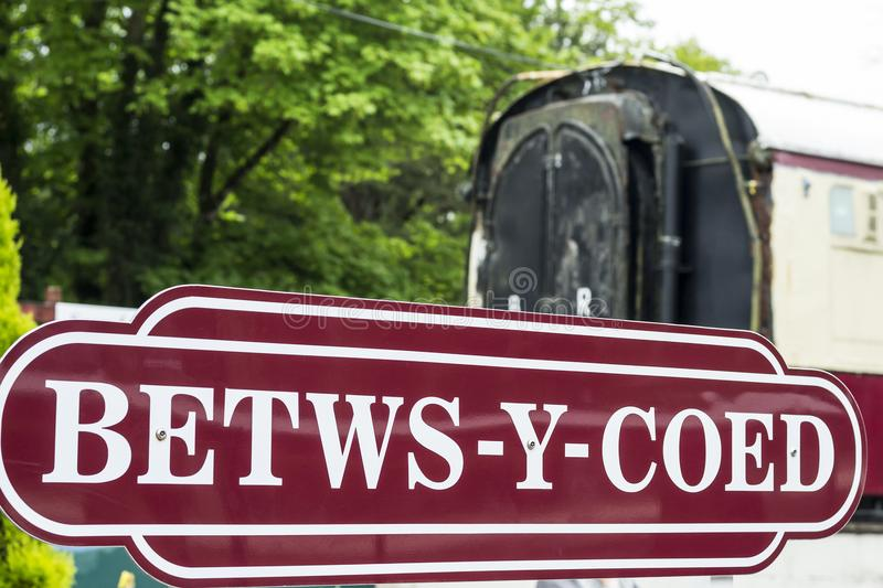 Betws-y-Coed sign royalty free stock photo