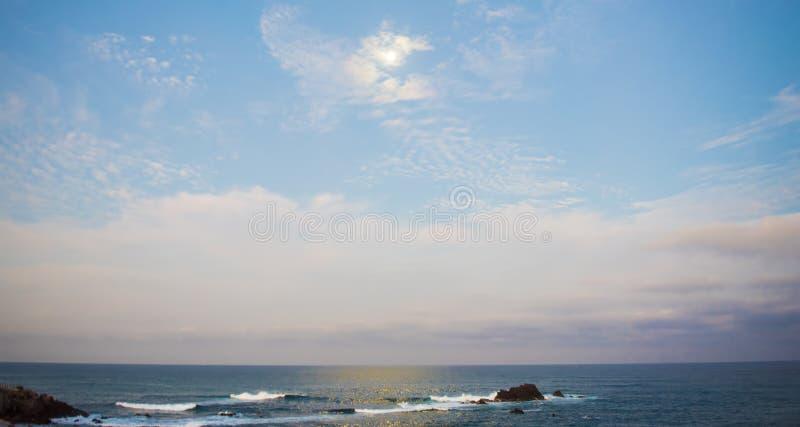 Beuatiful海景蓬塔乡田,墨西哥 库存图片