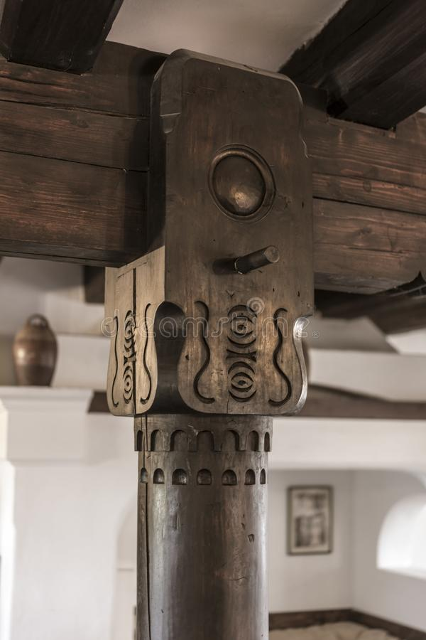 Free Beuatiful Interior Detail Of An Old Renovated Castle Od Bran In Royalty Free Stock Images - 132335539