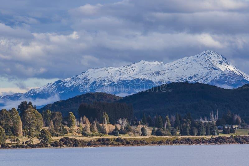 Beuatiful scenico della destinazione di viaggio importante di anau del te del lago fotografia stock libera da diritti