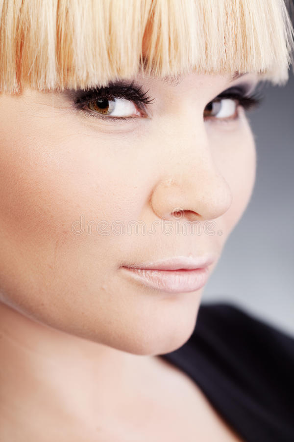 Download Beuatiful woman stock image. Image of makeup, black, smokey - 28689393