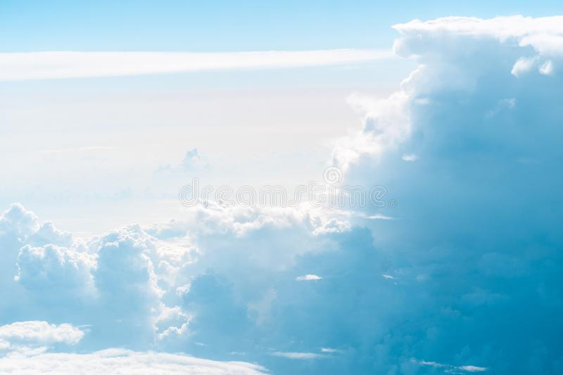 Beuaty blue clouds and sky royalty free stock photo