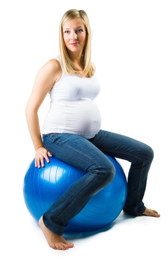 Beuautiful gravid caucasian kvinna arkivbilder