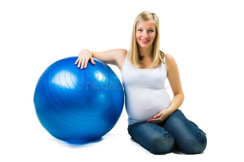 Beuautiful gravid caucasian kvinna arkivbild