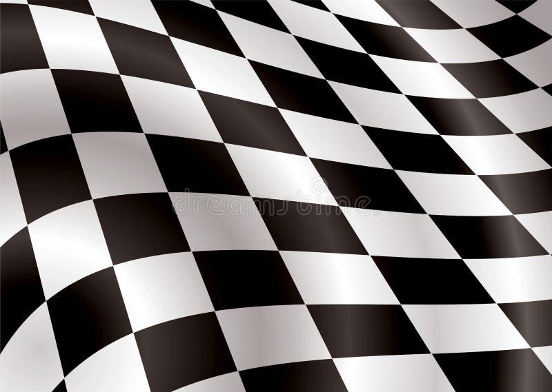 Beuglement Checkered d'indicateur illustration de vecteur