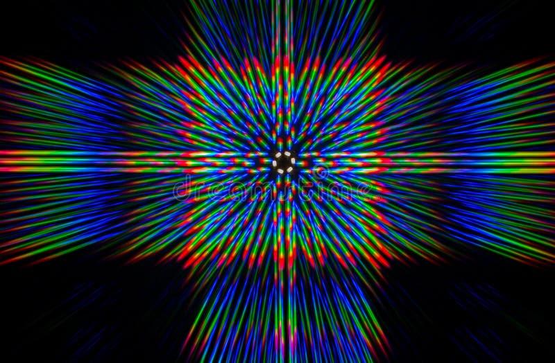 Beugung des Lichtes von der LED-Reihe lizenzfreie stockfotos