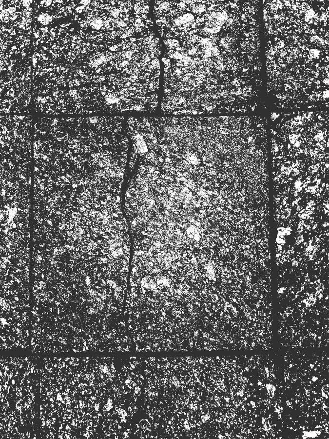 Beunruhigen Sie alte gebrochene Betonmauerbeschaffenheit vektor abbildung