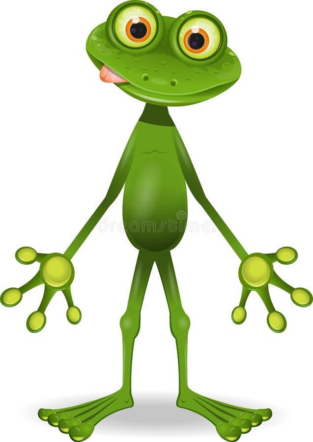 Beunruhigender Frosch vektor abbildung