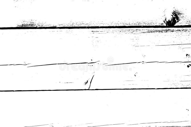 Beunruhigte Halbtonschmutzvektorbeschaffenheit - alter hölzerner Kratzerhintergrund Schwarzweiss-Vektorillustration für Staub vektor abbildung