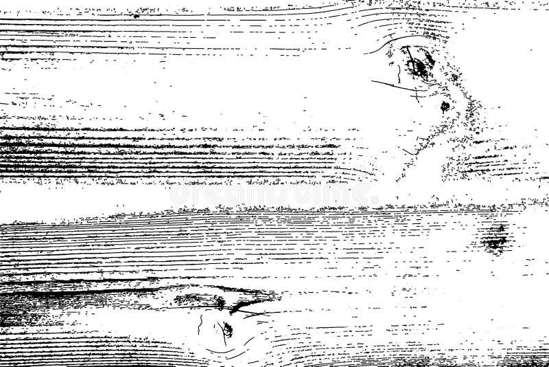 Beunruhigte Halbtonschmutzvektorbeschaffenheit - alter hölzerner Kratzerhintergrund Schwarzweiss-Vektorillustration für Staub lizenzfreie abbildung