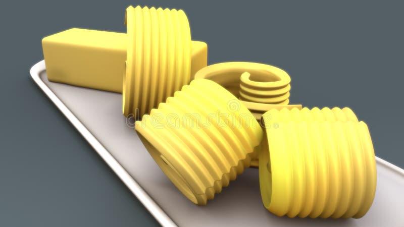 Beurre illustration de vecteur