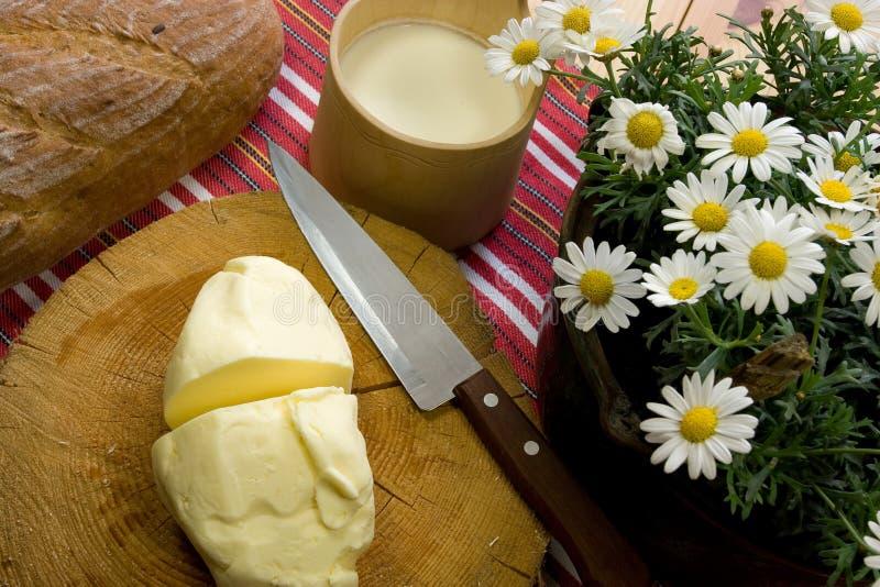 Beurre avec du pain image libre de droits