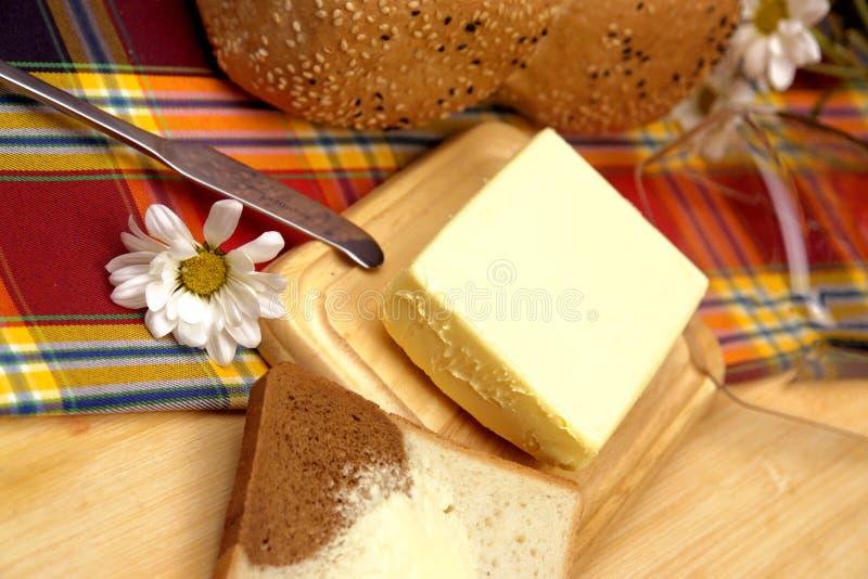 Beurre avec le caviar image libre de droits