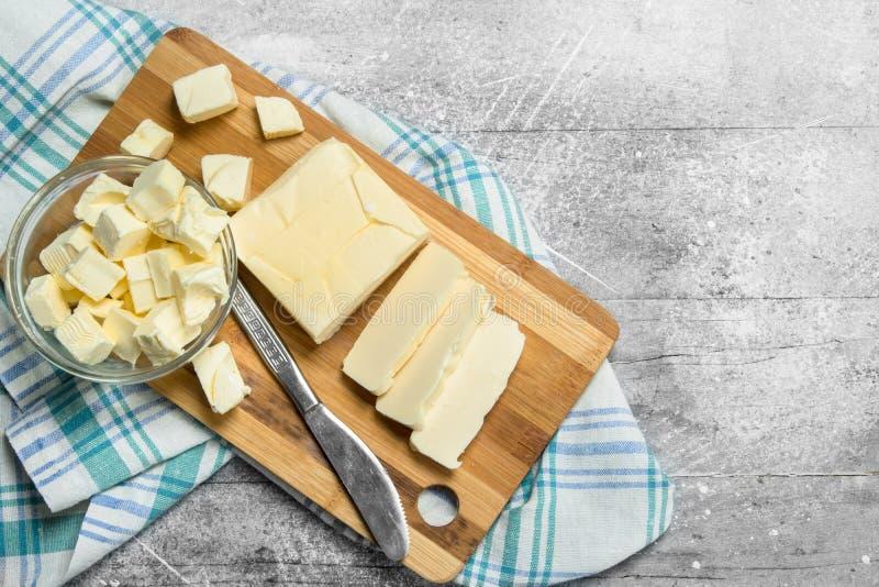 Beurre avec une serviette image libre de droits