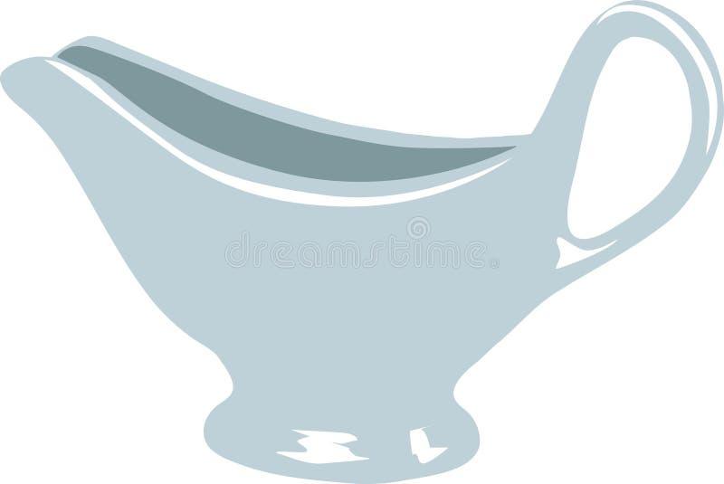 Beurre-bateau illustration de vecteur