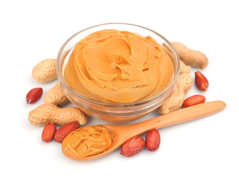 Beurre d'arachide crémeux images libres de droits