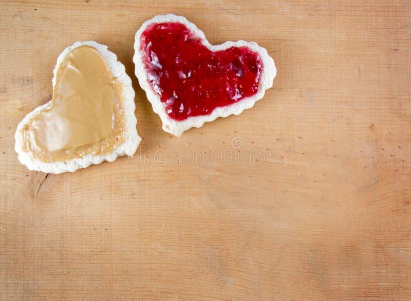 Beurre d'arachide et sandwich à gelée photo stock