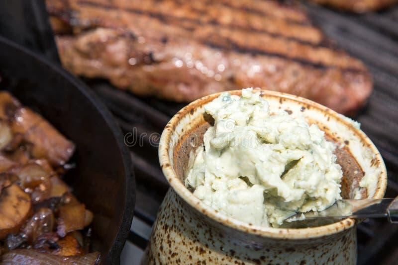 Beurre de bifteck de fromage bleu photographie stock libre de droits