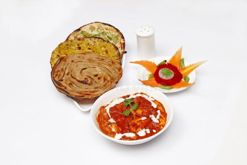 Beurre de Paneer Masala - Roti photos libres de droits