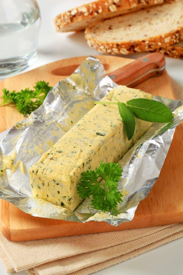 Beurre persillé photo stock