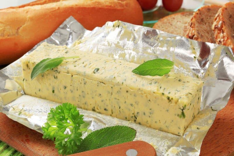 Beurre persillé image stock