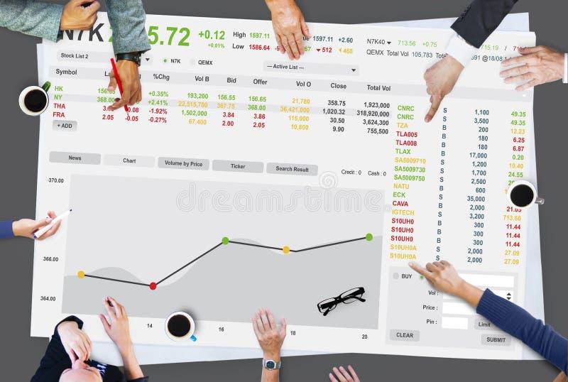 Beurs Handelforex Financiën Grafisch Concept royalty-vrije stock foto