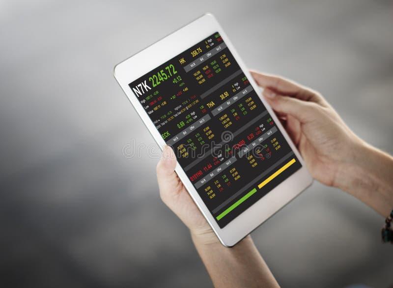 Beurs Handelforex Financiën Grafisch Concept stock foto