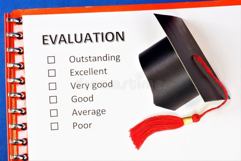 Beurteilung der Bedeutung für die Fähigkeit und Obergrenze eines Schülers In der Pädagogie, die Analyse des Kenntnisstandes der lizenzfreie stockfotografie