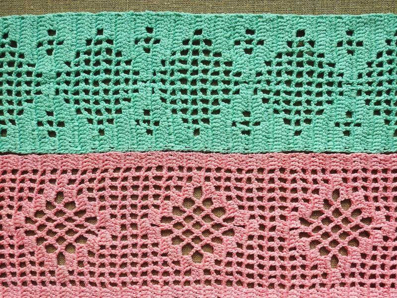 Beuteful crochet surface with ornaments, Lithuania royalty free stock photo