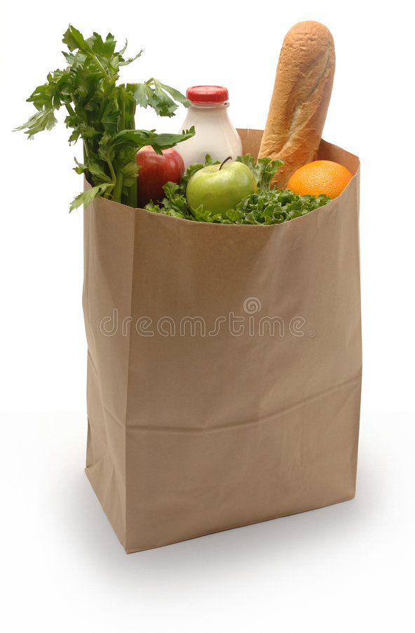 Beutel der Lebensmittelgeschäfte stockfoto