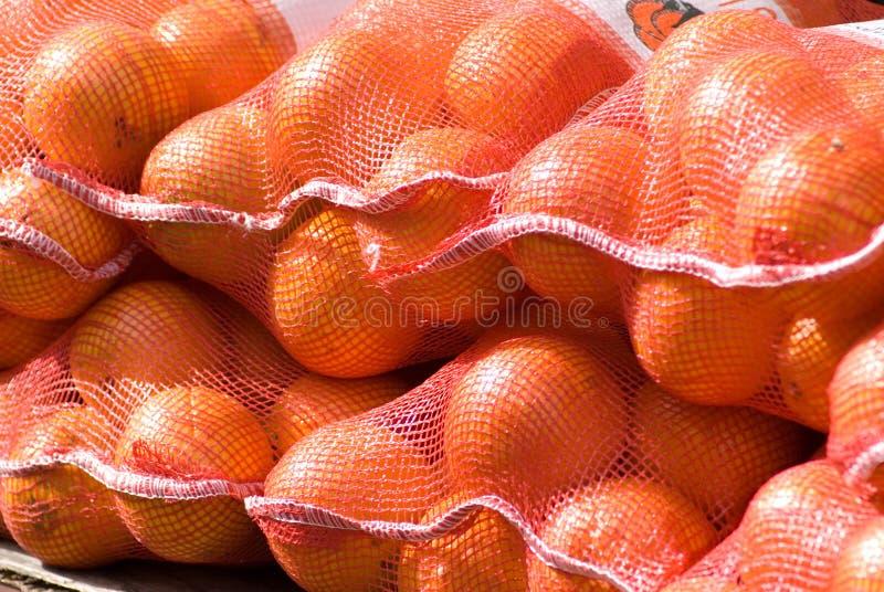 Beutel der Orangen lizenzfreie stockfotografie