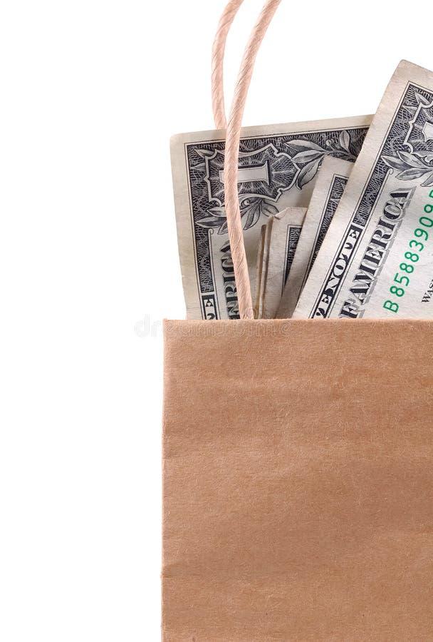 Beutel des Geldes lizenzfreie stockfotos