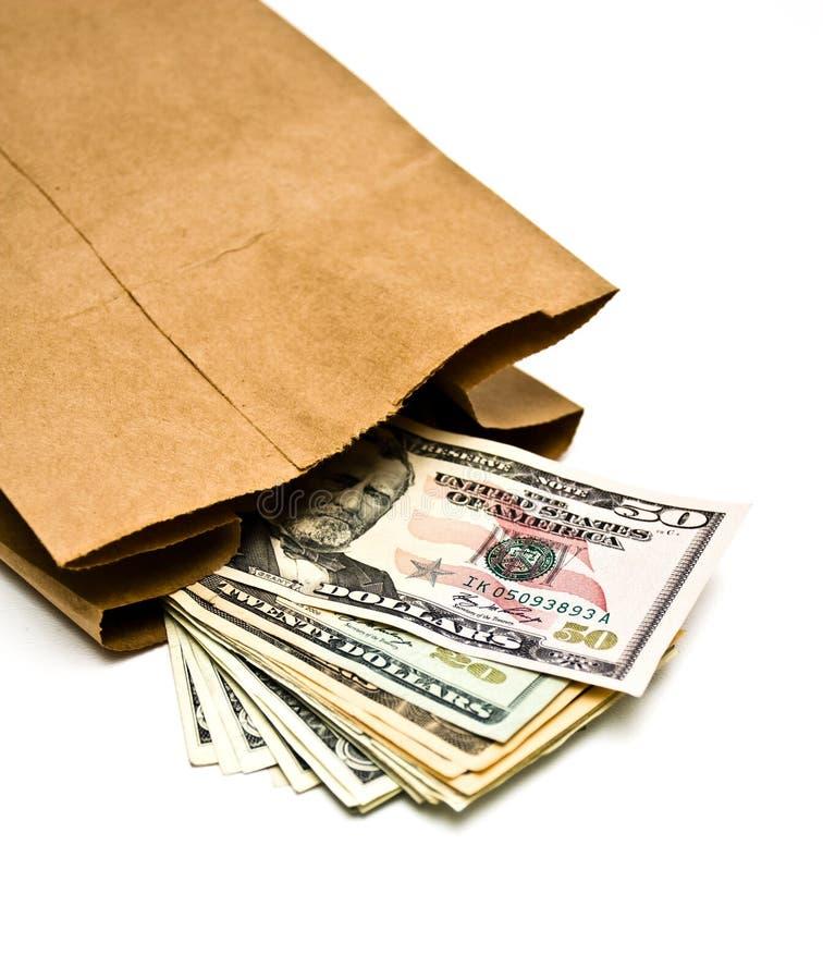 Beutel des Geldes stockbild