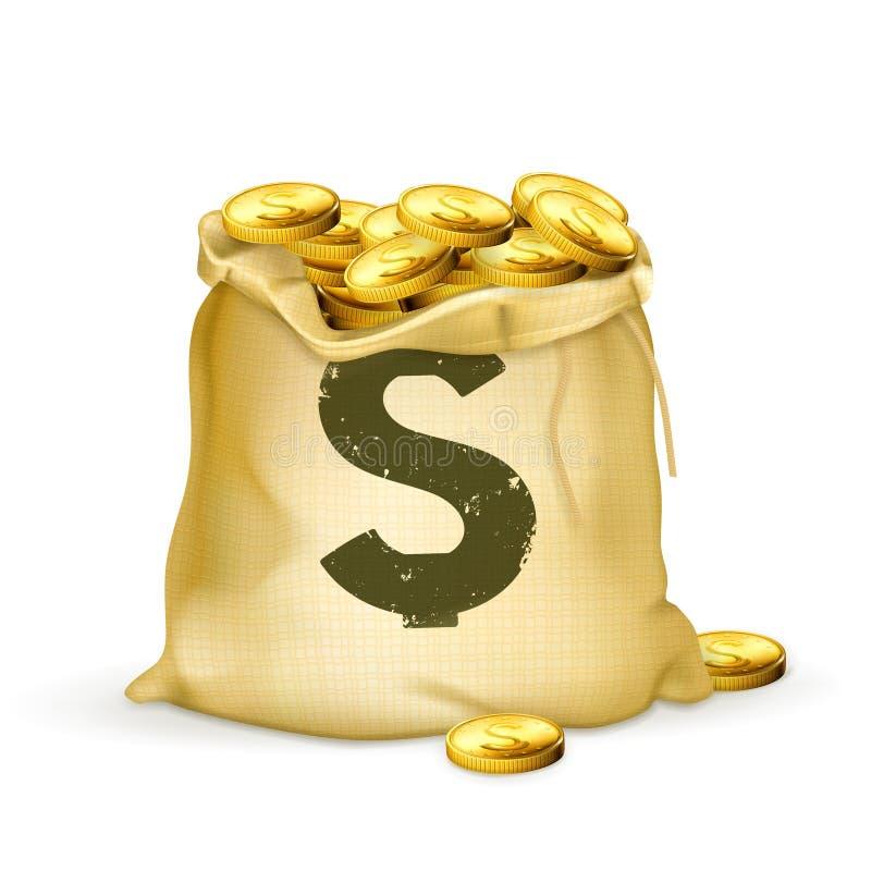 Beutel des Goldes stock abbildung