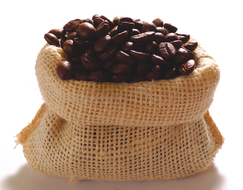 Beutel des Kaffees lizenzfreie stockfotografie