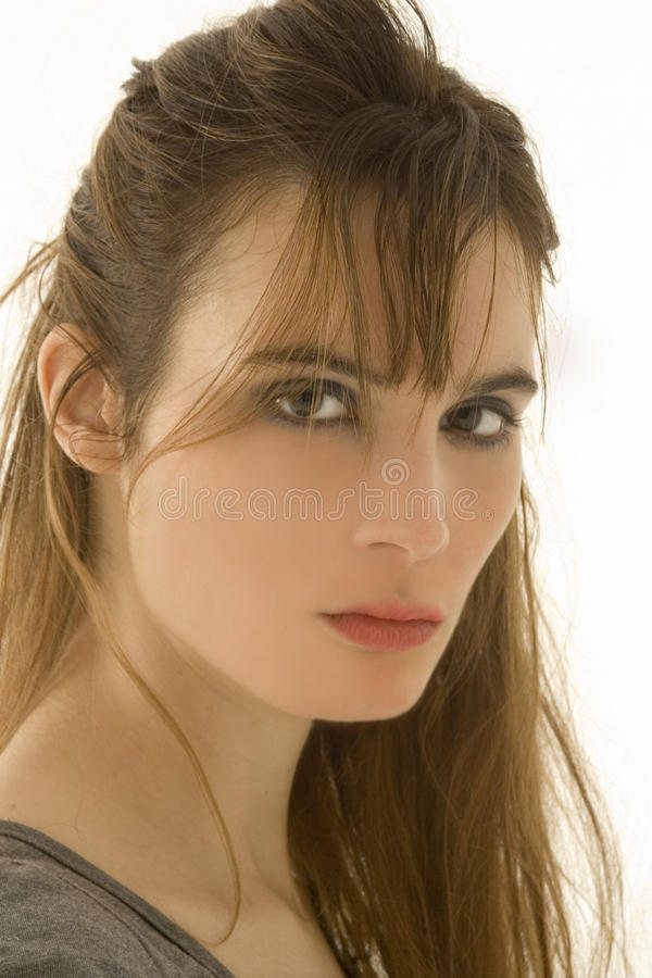Download Beutiful girl stock image. Image of lady, staring, white - 16877091