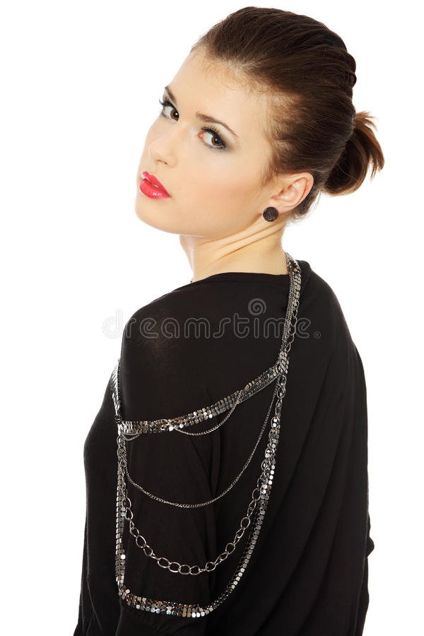 Download Beutiful Teen  Brunette With Jewelery Stock Photo - Image: 23536540