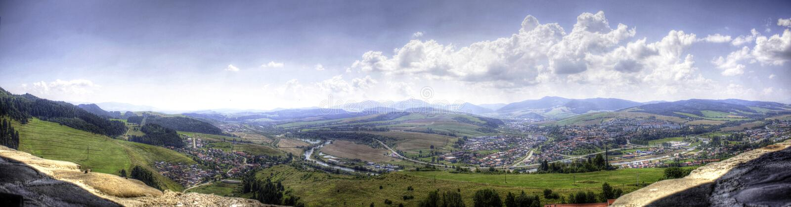 Beutiful view from castle tower of valley. Fourth stock images