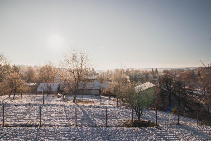Beutifull-Morgen in meiner Heimatstadt lizenzfreies stockfoto