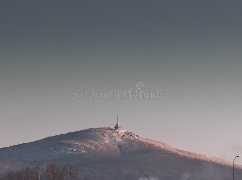Beutifull-Morgen mit Ansicht über Nitra stockfoto