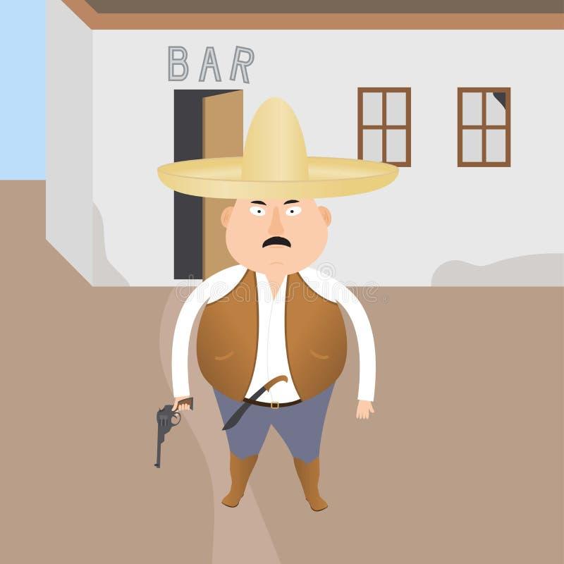 Beväpnad gangster royaltyfri illustrationer