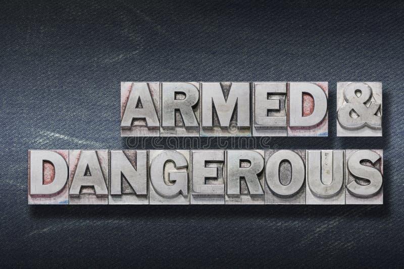 Beväpnad och farlig håla fotografering för bildbyråer