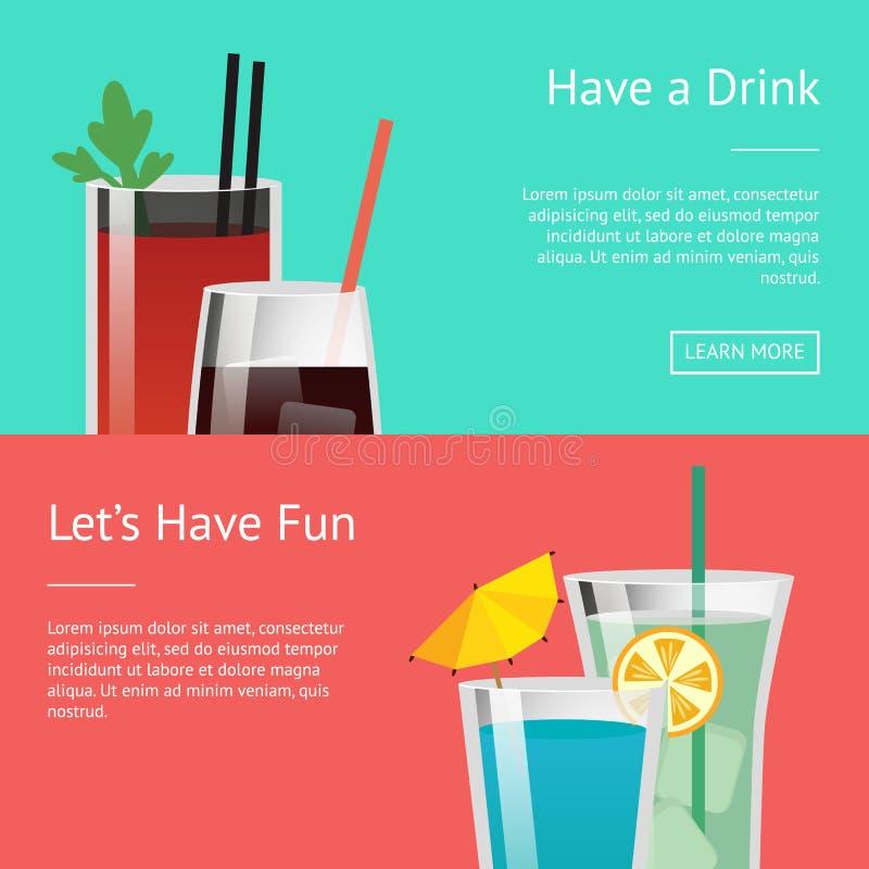 Beva e lasci la s divertiresi il manifesto variopinto royalty illustrazione gratis