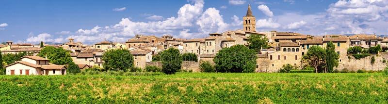 Bevagna (Umbria) high definition panoramic. View stock photos