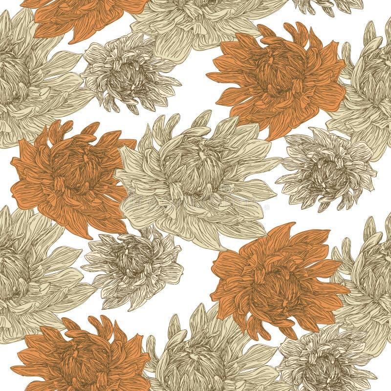 Bevallig bloemen naadloos patroon stock illustratie